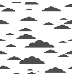 black cloud on white background seamless pattern vector image