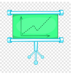 board with statistics icon cartoon style vector image