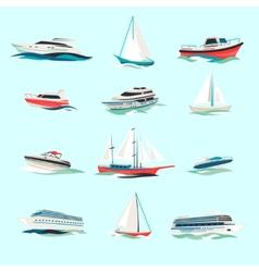 Boats icons set vector image