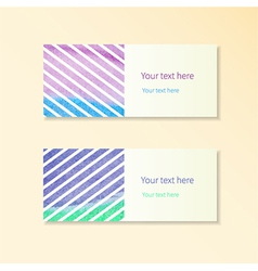 Cards and stripes vector image