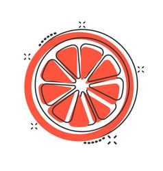 Cartoon orange fruit icon in comic style orange vector