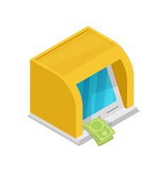 cash dispenser isometric 3d icon vector image