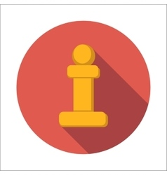 Chess pawn flat icon vector