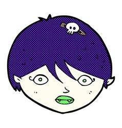 Comic cartoon vampire face vector