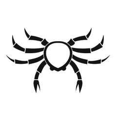 Crab sea animal icon simple style vector