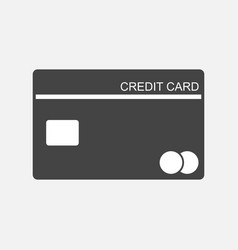 Credit card icon banking card in flat style on vector