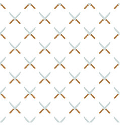 Crossing knife pattern seamless vector