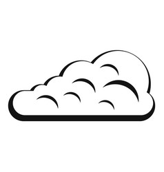 Cumulus cloud icon simple style vector