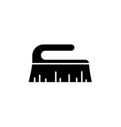 Cutout silhouette scrub brush icon outline logo vector