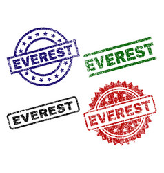 Damaged textured everest seal stamps vector