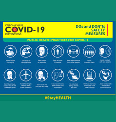Do and dont safety measures or public health vector