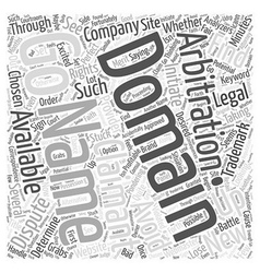 Domain Name Arbitration Word Cloud Concept vector