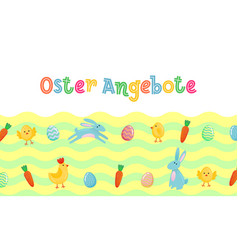 easter sale german cute banner with colored vector image