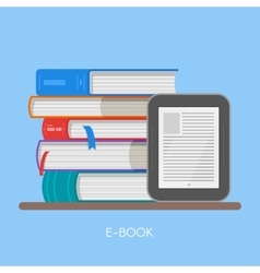 Electronic book concept in vector