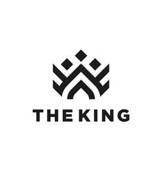 Elegant royal crown luxury logo design vector