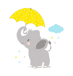 elephant under umbrella vector image