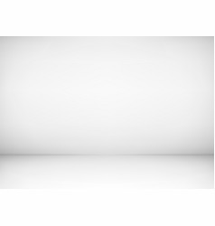 empty studio room interior white wall and floor vector image
