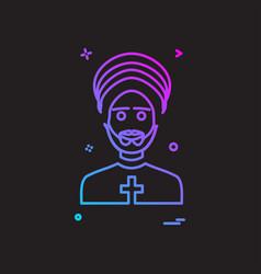 father icon design vector image