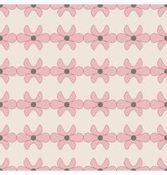 Flower pink seamless pattern vector image