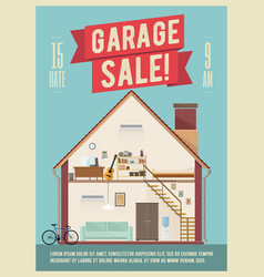 garage sale banner vector image