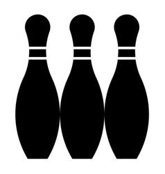 Glyph beautiful bowling pin icon vector