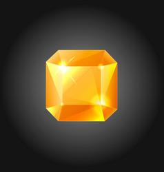 Golden gem vector