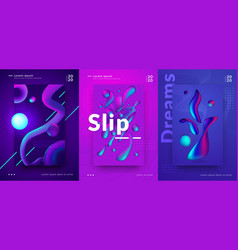 gradient poster cover design with abstract vector image