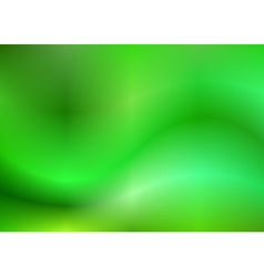 Green abstract gradient wavy background vector