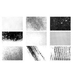 Halftone texture set vector