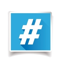 Hashtag sign or hashtag icon vector