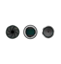 image sensor shutter and lens vector image
