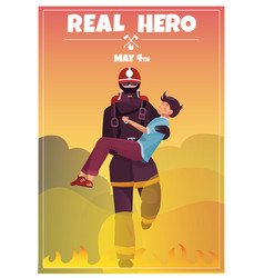 International firefighters day card vector