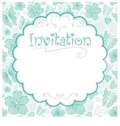 invitations card vector image