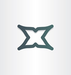 letter x character abstract icon design vector image