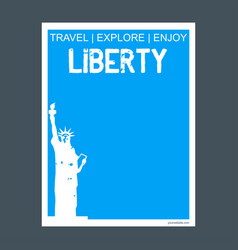 liberty newyork usa monument landmark brochure vector image