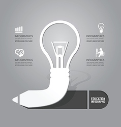 Light bulb with pencil icon concept vector