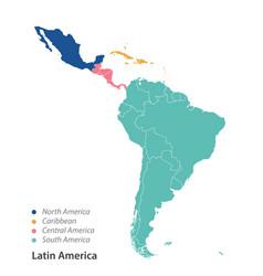 Map latin america vector
