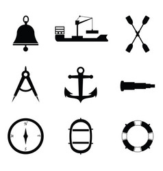 Marine and nautical icon vector