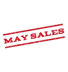 May Sales Watermark Stamp vector image