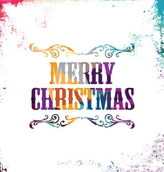 Merry christmas bstract colorful triangle vector
