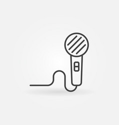 Microphone concept icon in thin line style vector