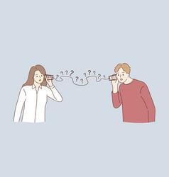 Misunderstanding communication problems vector