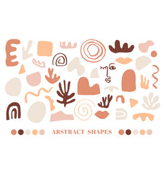 modern natural abstractions elements set vector image
