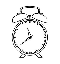 Monochrome silhouette of alarm clock vector