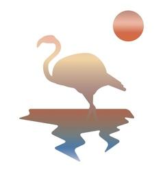 Multicolor flamingos vector