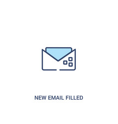 New email filled envelope concept 2 colored icon vector