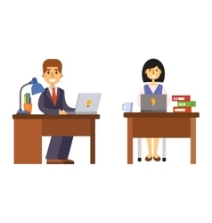 Office worker vector image