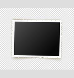 Old photo retro image frames empty snapshot vector