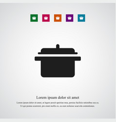 pan icon simple vector image