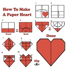 Paper Heart Design Vector